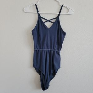 Cynthia Rowley Criss-cross Back Snatched Bodysuit